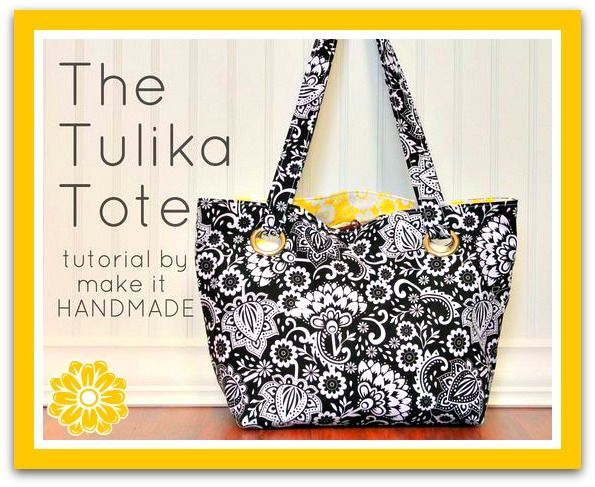 The Reversible Tulika Tote - Free Sewing Tutorial | Pinterest ...