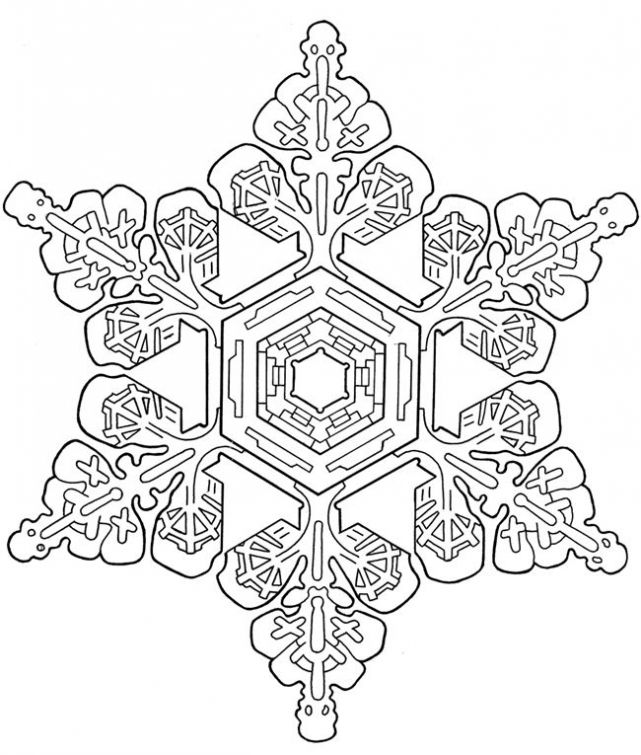 Advanced Snowflake coloring page for adults | Abstract ...