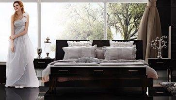 Modern Chocolate Platform Bed   Modern   Beds   Los Angeles   LA Furniture  Store
