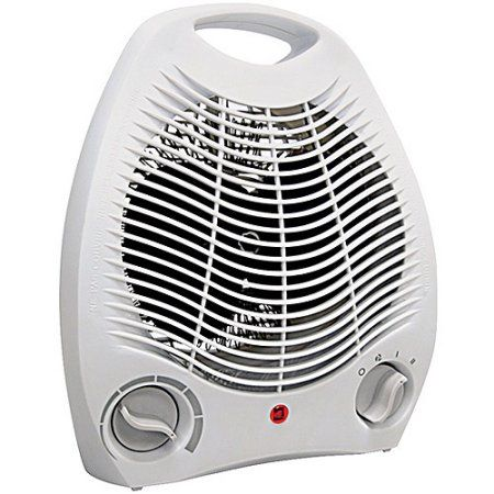 Comfort Zone Compact Portable Electric Space Heater Personal Fan Unit White Walmart Com Portable Space Heater Heater Fan Portable Heater