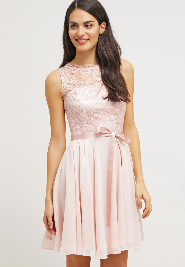Rosa Waisted Cocktail Party Dress with Bow and Lace | Cocktail ...