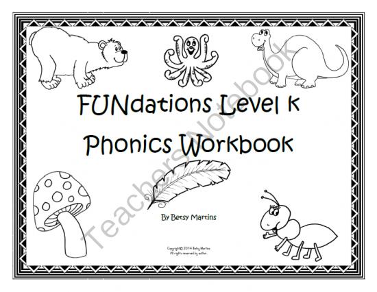 Teachers Notebook Fundations Fundations Kindergarten Wilson Reading