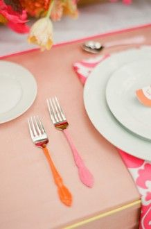 Freshly Squeezed Southern Weddings Southern Weddings Mismatched Flatware Diy