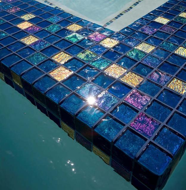 - Lightstreams Glass Pool Tile | Peacock Blue C Atherton