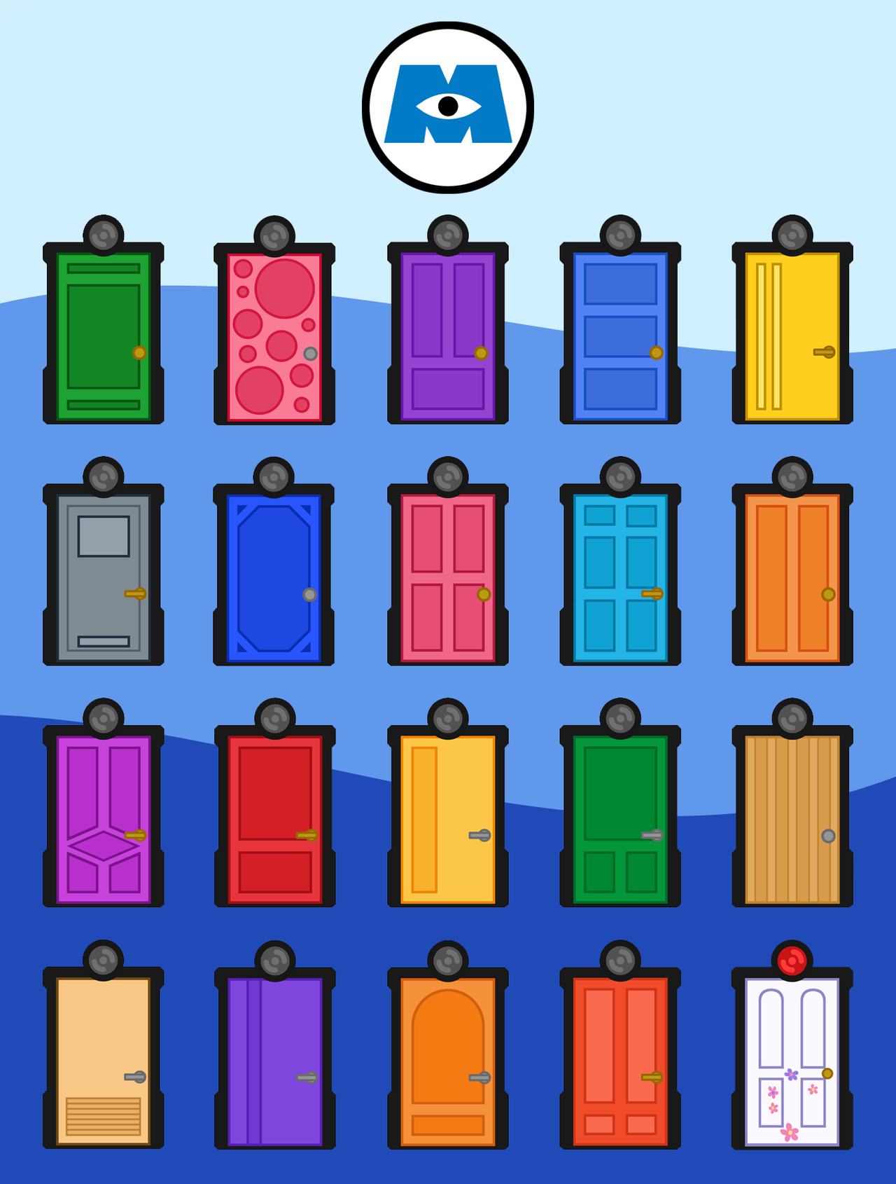 Monsters INC Doors by caritho.deviantart.com on @deviantART   RA ...