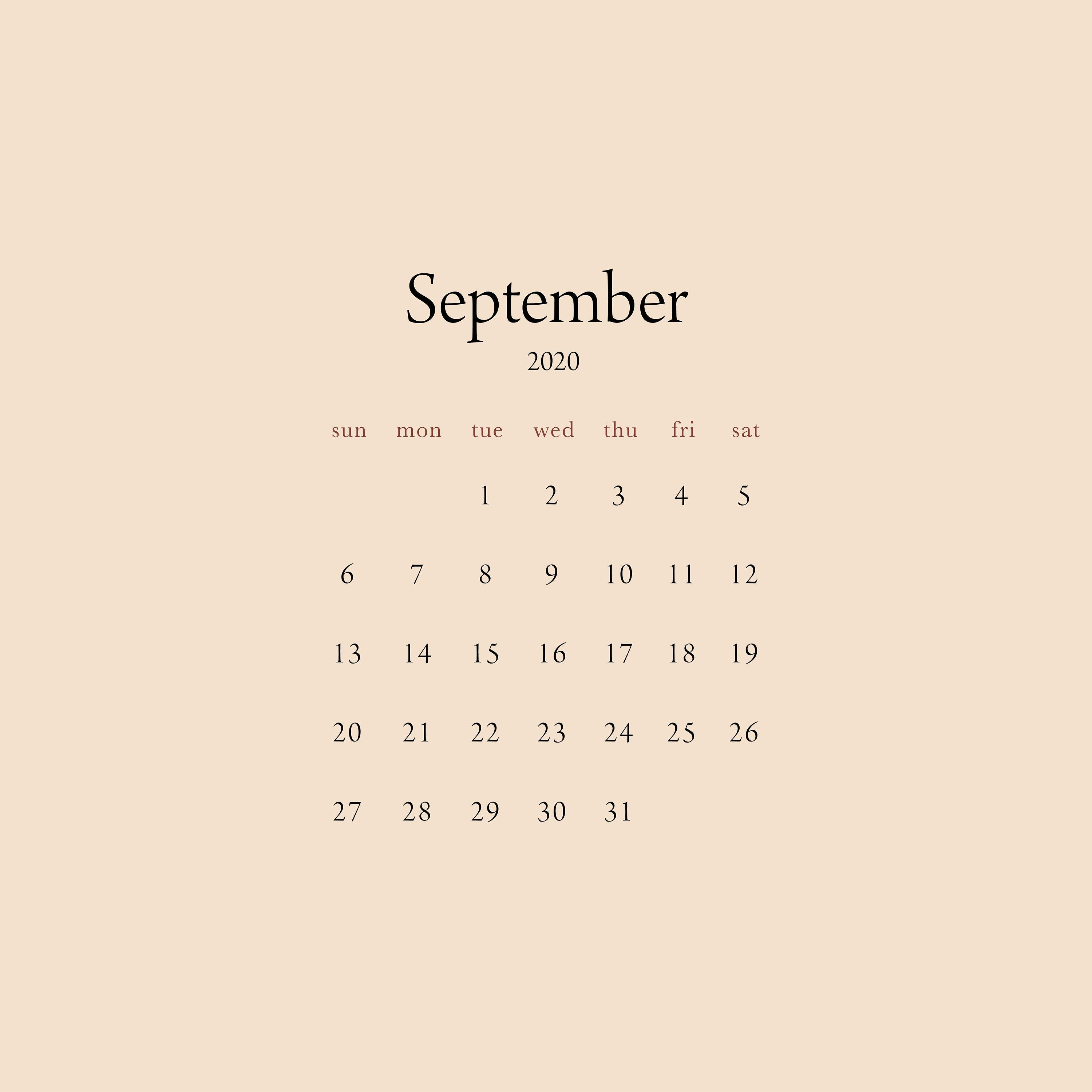 September 2020  June 2021 Desktop Calendar Wallpaper INSTANT | Etsy