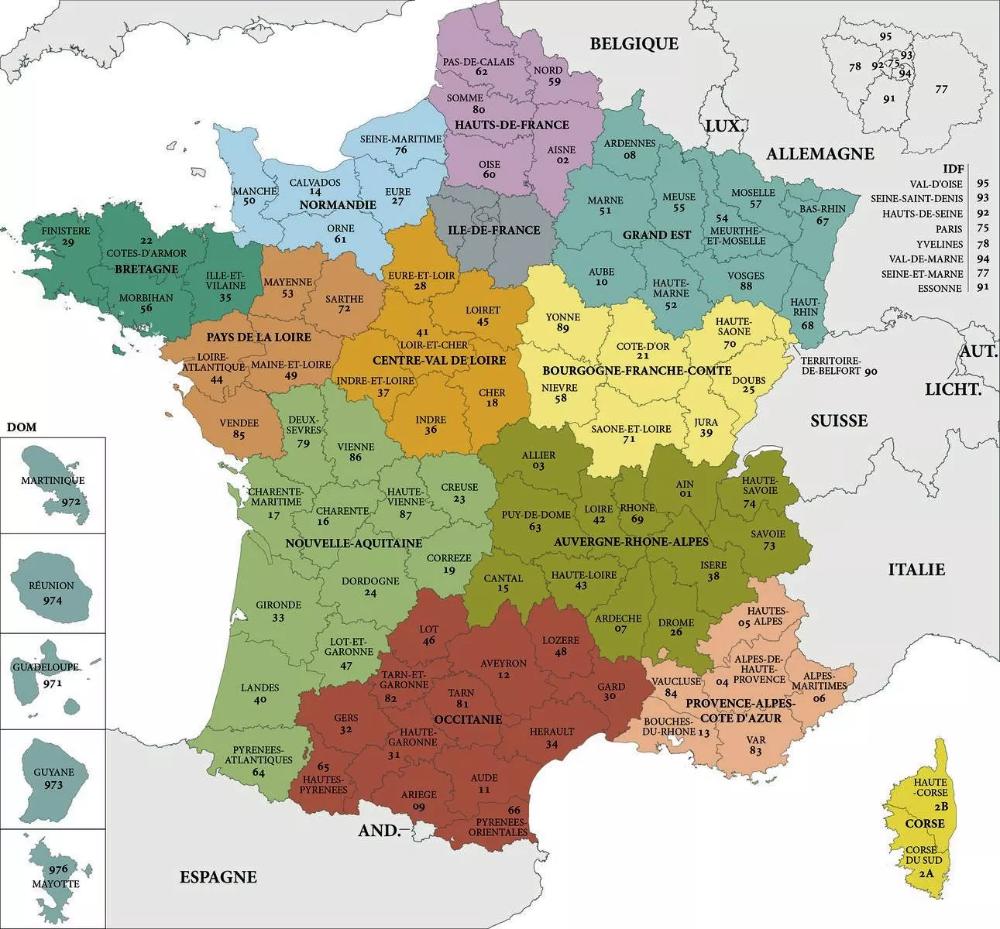Carte De France Des Regions Carte Des Regions De France Carte De France Carte Des Regions Carte De France A Imprimer