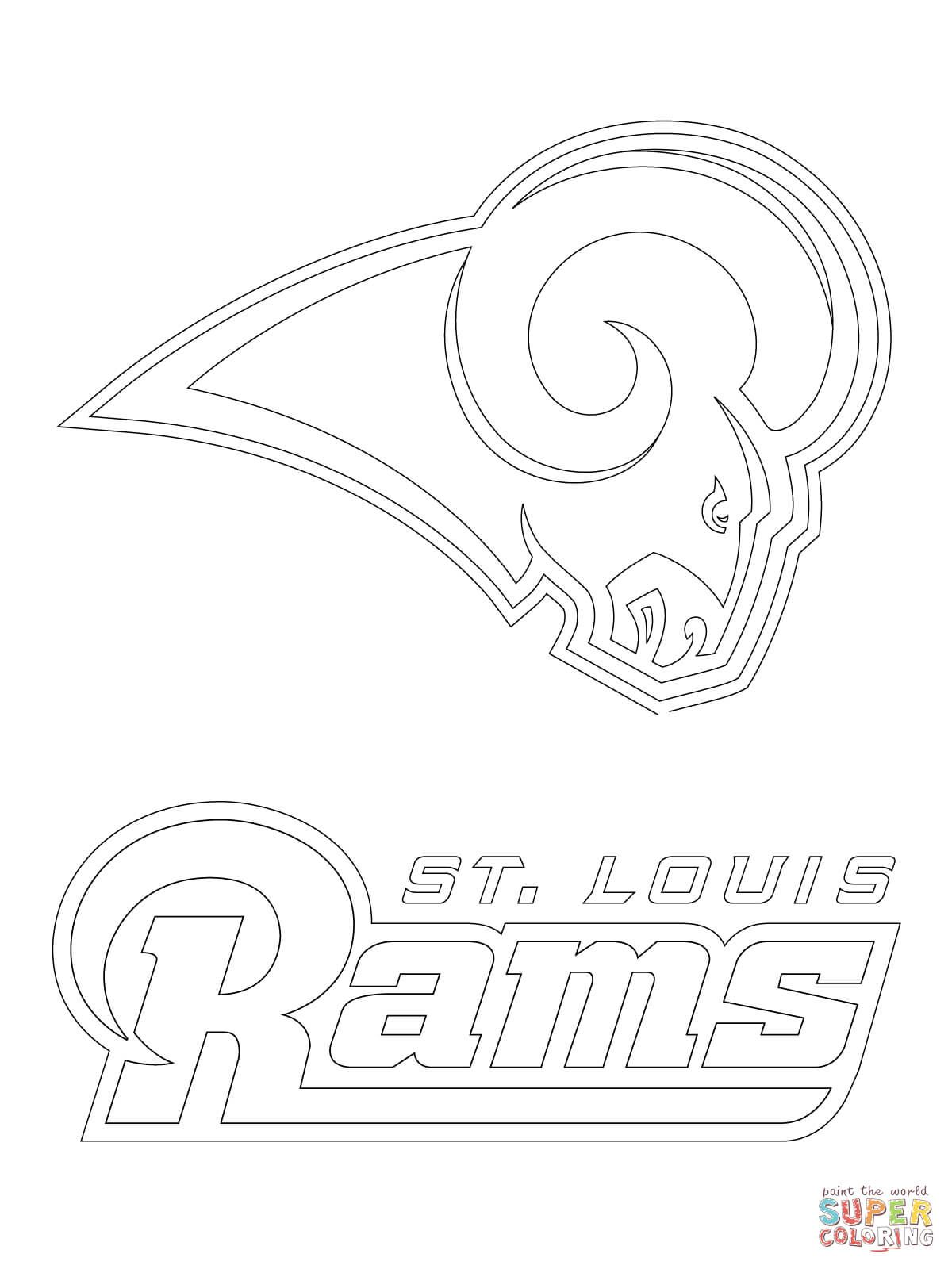 St. Louis Rams Logo coloring page | Free Printable Coloring Pages ...