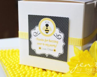 Bumble Bee Favor Boxes