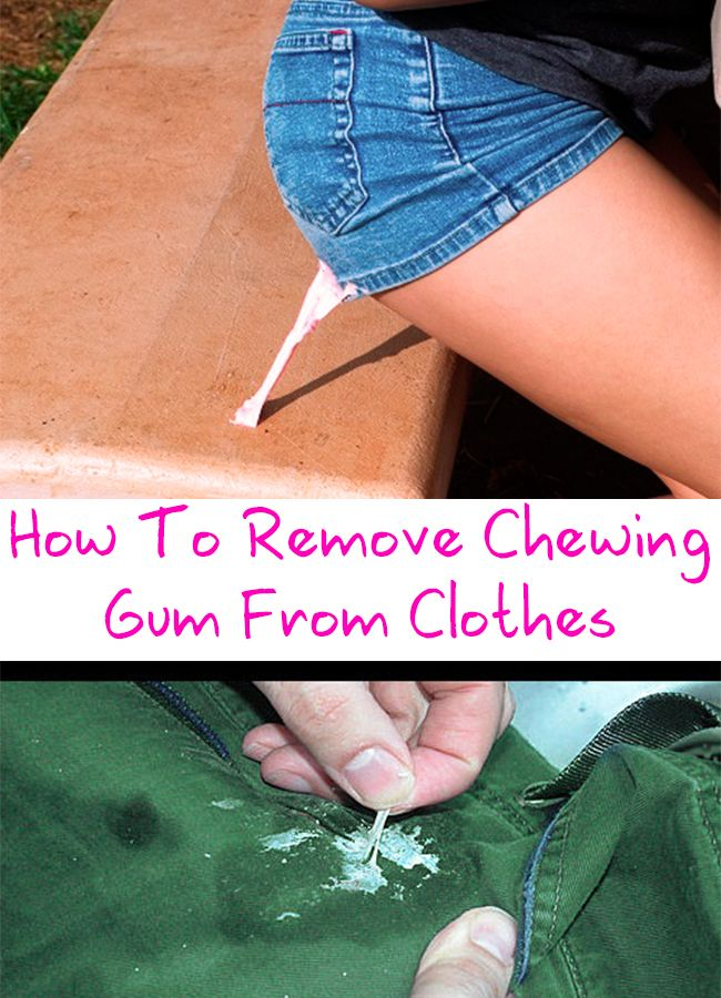 How To Remove Chewing Gum From Clothes Diy makeup and