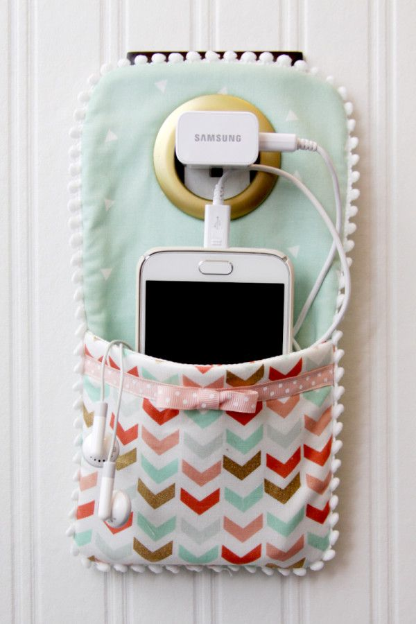 easy diy phone charger holder craft sewing and embroidery cool rh pinterest com