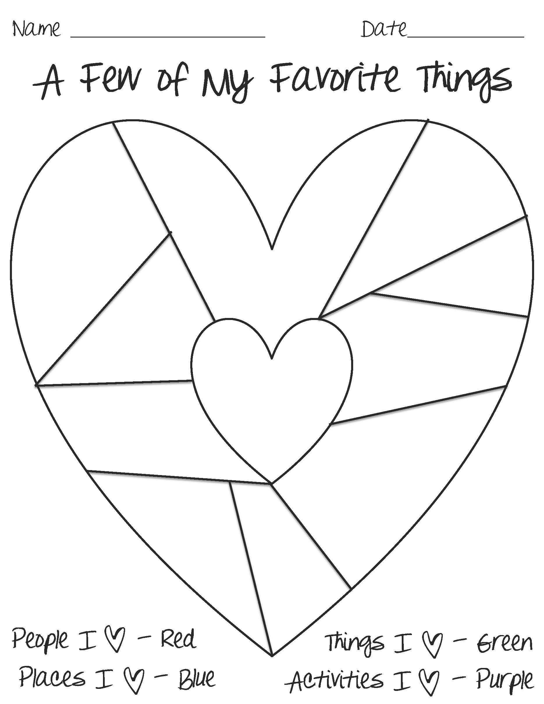 Heart Map Template