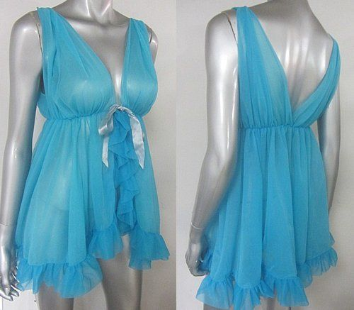 BABY DOLL VINTAGE 1960S SWEET BLUETTE NIGHTY
