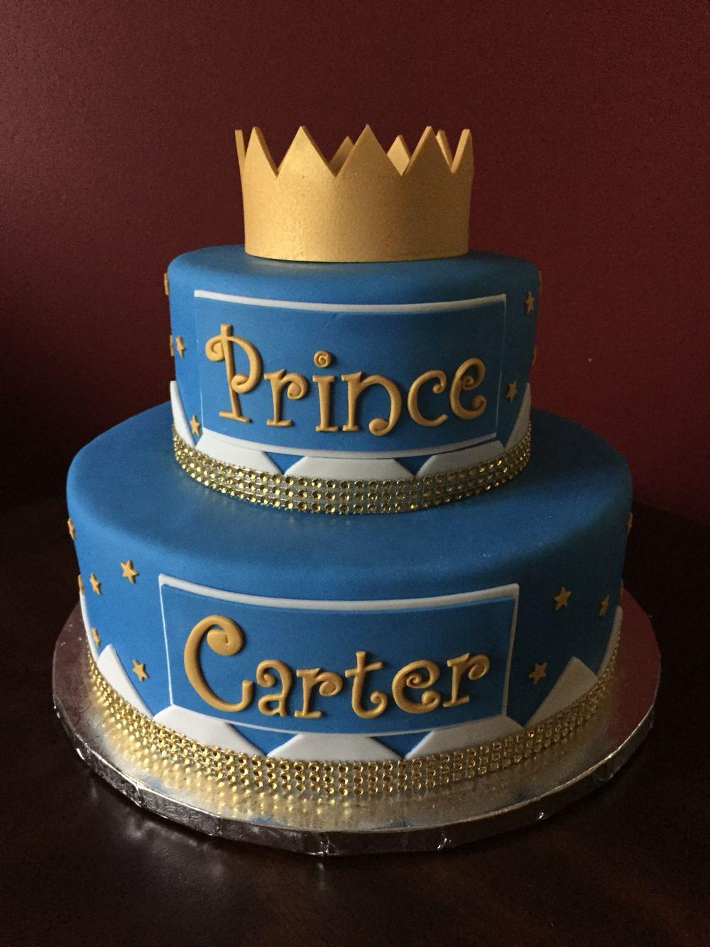 First Birthday Prince Cake Birthday Cakes Pinterest Prince - Blue cake birthday