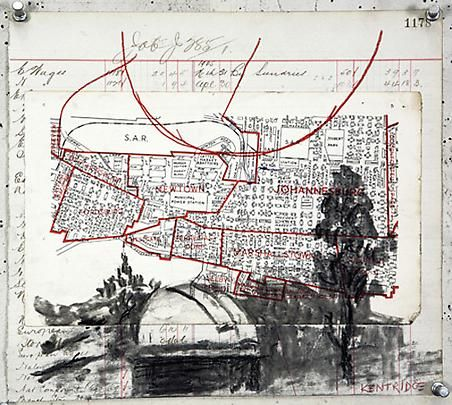 "William Kentridge, Drawing for ""Other Faces,"" 2011"