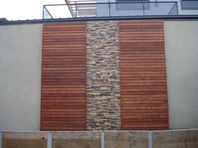 Exterior feature wall feature wall pinterest medium for Home outer wall design