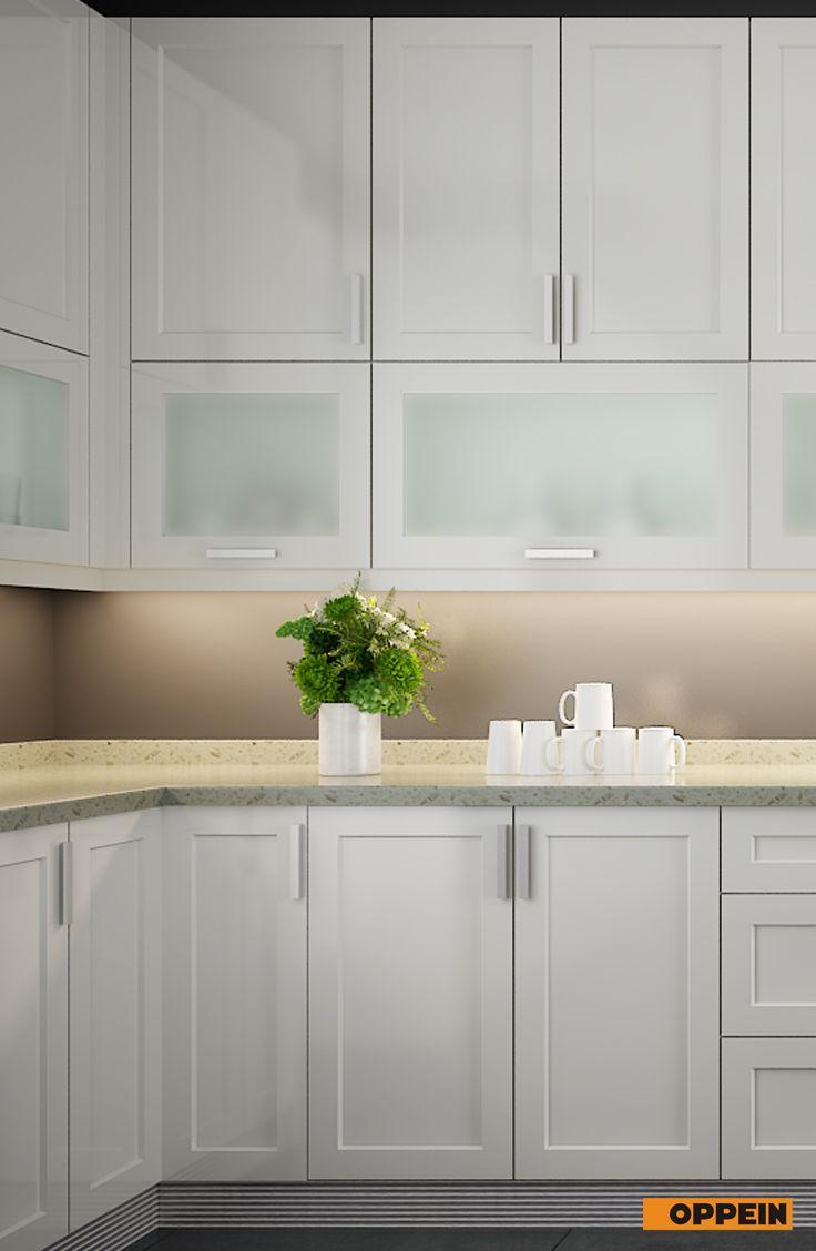 White Lacquer Can Brighten Your Kitchen Maximum Peaceful Milk White Add With Translucent Glass Crea Glass Kitchen Cabinets Kitchen Design Small Kitchen Hacks