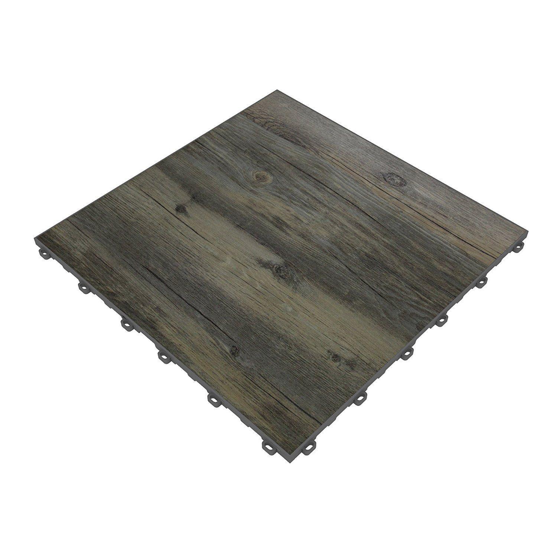 Amazon Swisstrax Reclaimed Pine Vinyltrax Garage Floor Tile