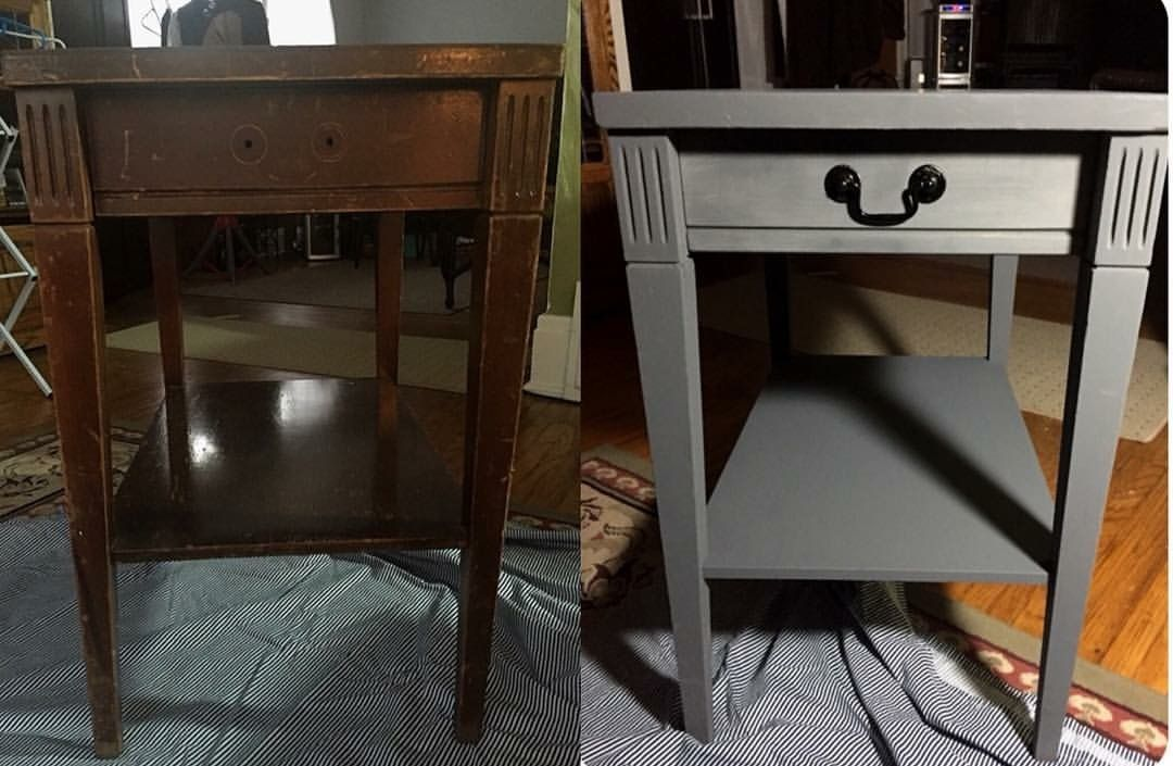 diy side table end table chalk paint before and after pins i rh pinterest com