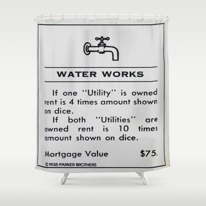 Water Works Shower Curtain Shower Curtain