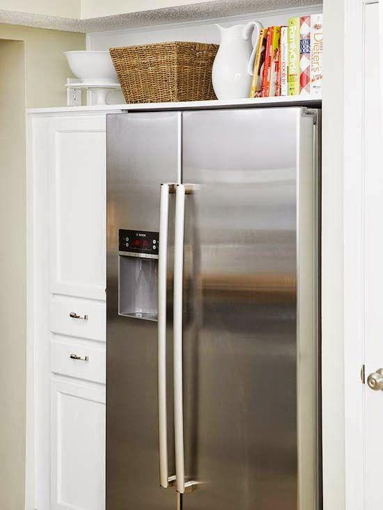 how to maximize the awkward space above the fridge dress my nest rh pinterest co uk
