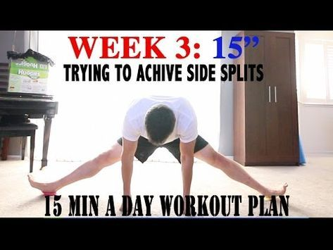 week 02 how to do the splits for beginners  youtube