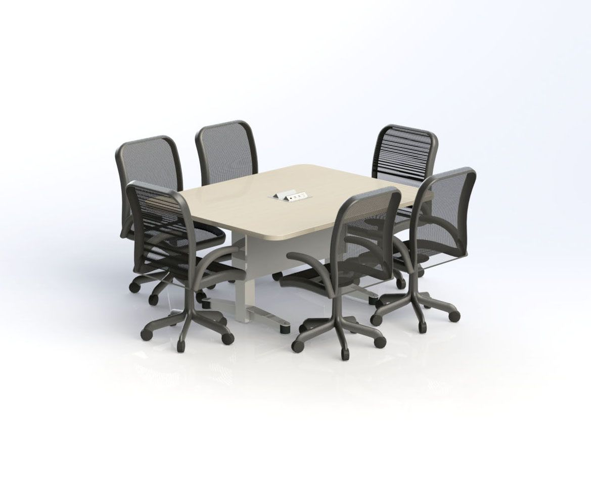 Conference Table 6 seats (48\'\' x 60\'\') Table de Conférence 6 places ...