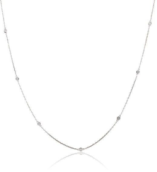 14K White Gold & 0.62ctw Diamonds By The Yard Necklace