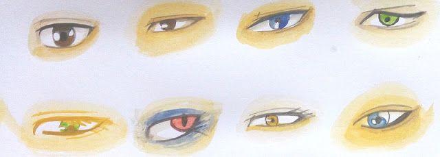 Cara Mewarnai Mata Manga Dengan Watercolor Dengan Gambar Mata Manga Gambar Mata Sketsa
