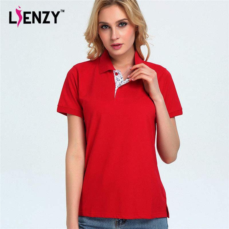 9a6a171456a2 LIENZY Casual Women Brand Classic Polo Shirt Plus Size Shirts Jerseys  Fashion Unisex Couple Pullovers
