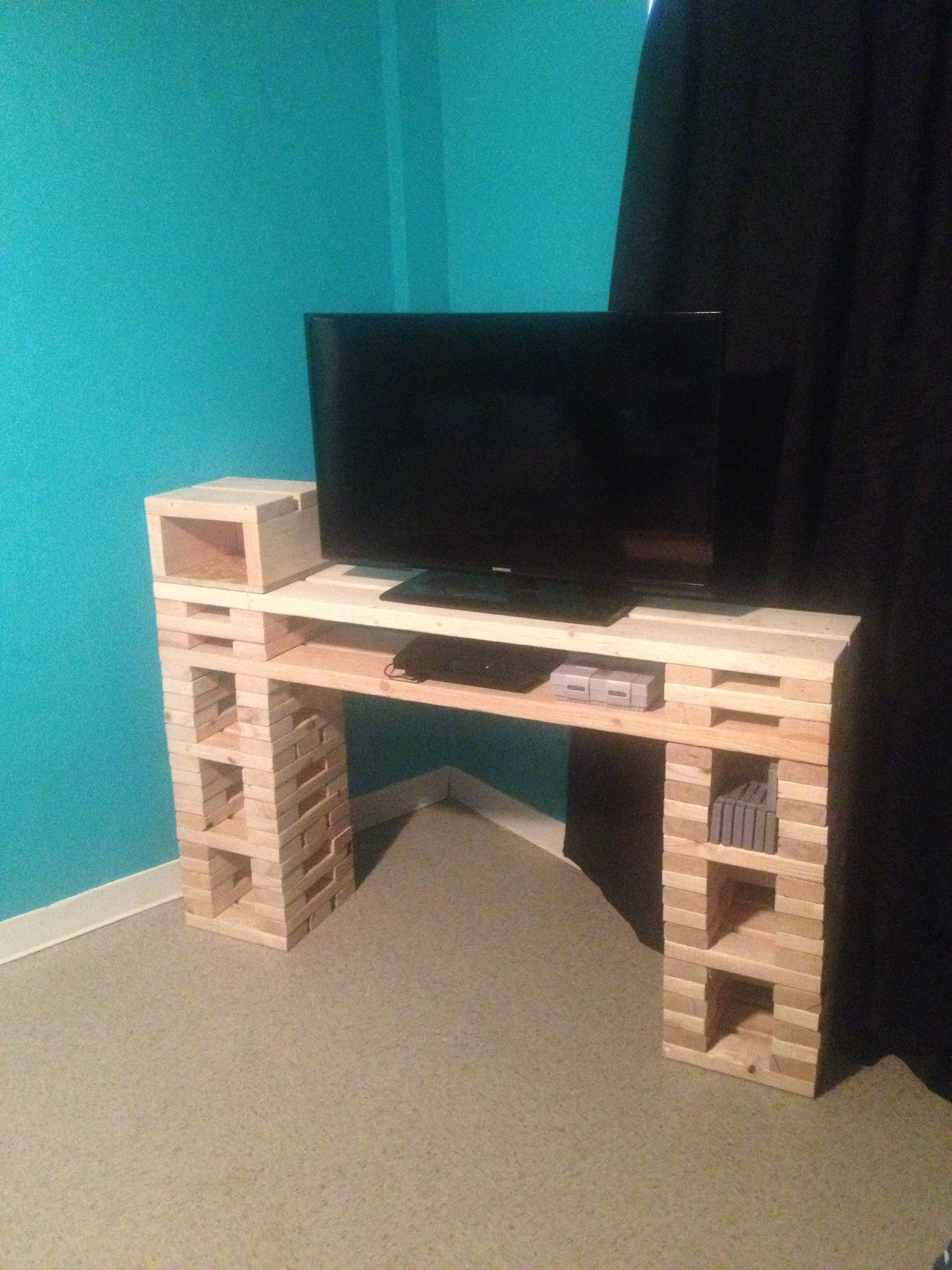 easy 2x4 and 2x6 entertainment center crafts entertainment rh pinterest ca