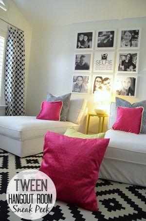 teen tween hangout room reveal inawaverlyworld rh pinterest co uk