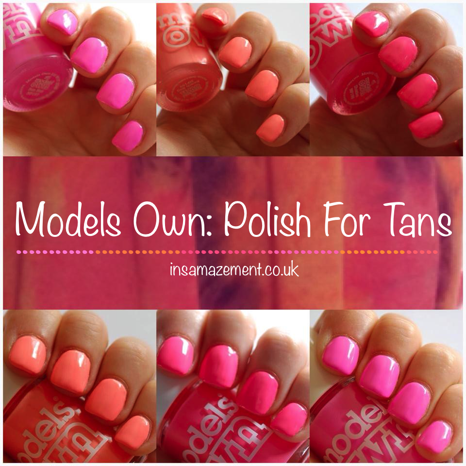 Review and Swatches of the Models Own Polish for Tans collection ...