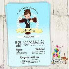 a314fa8b04155 Invitacion Primera Comunion Kit Imprimible Niño Etiquetas -   80.00 en Mercado  Libre