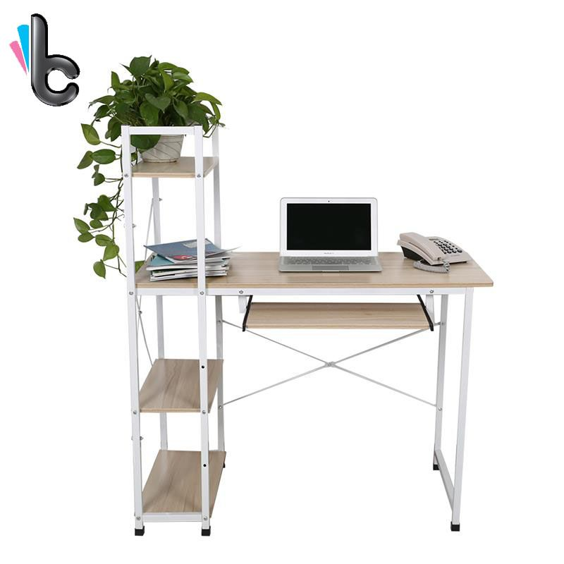 computer bureau pc laptop tafel met planken thuis studie