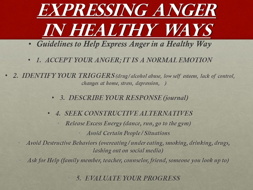 how to take out anger in a healthy way