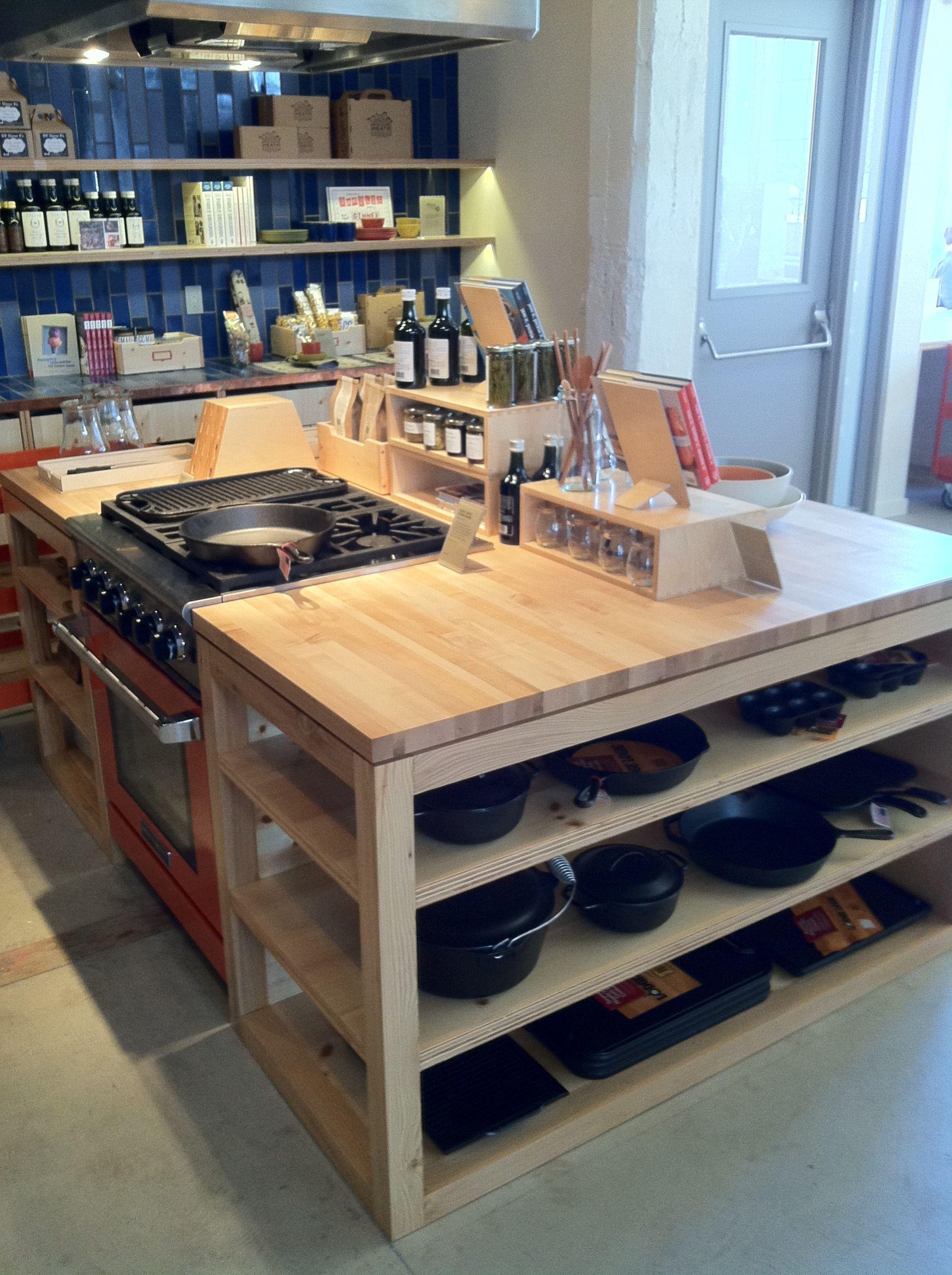 multi task kitchen island at heath ceramics showroom kitchen ideas rh pinterest com