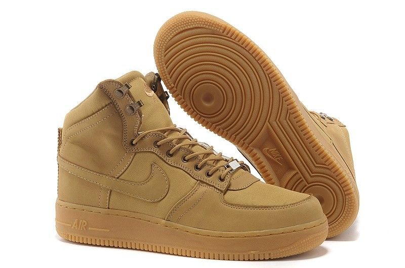 best sneakers 42831 ca065 Heren nike air force 1 high top schoenen camel suede