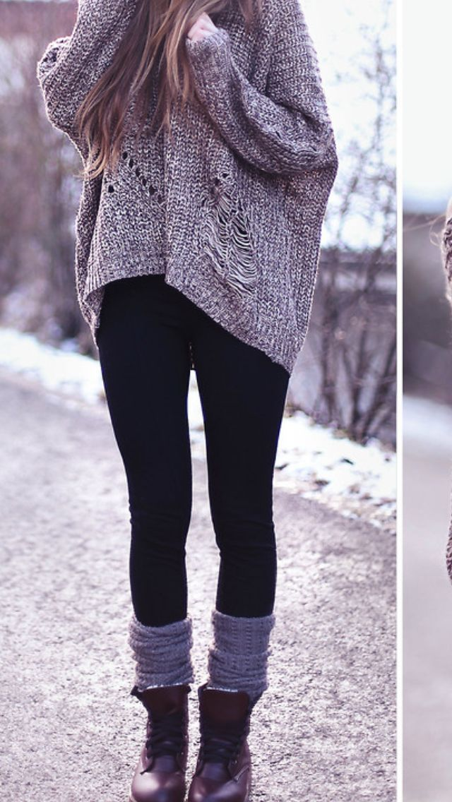 40 Insanely Stylish Ways to Wear Leggings in winter | Weather ...