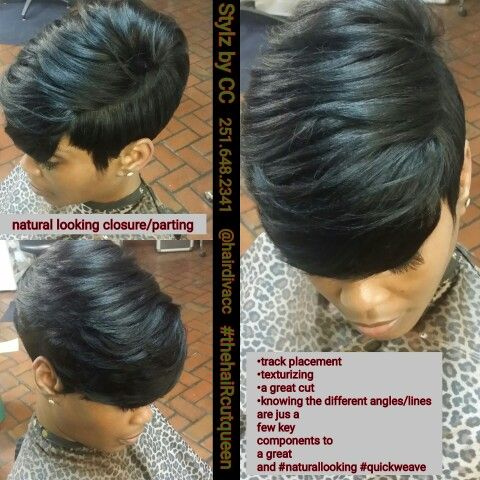 Quickweave No Leave Out Quick Weave Hairstyles Short Hair Styles Short Weave Hairstyles