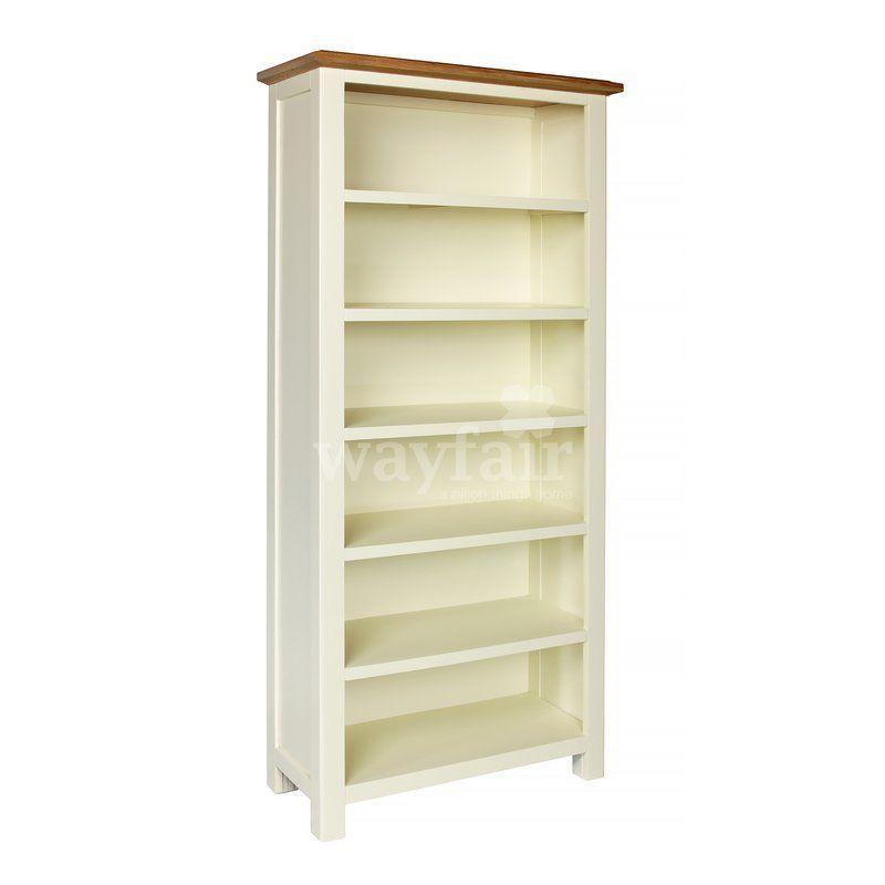white wooden bookcase 5 bookshelves solid oak wood office living rh pinterest com
