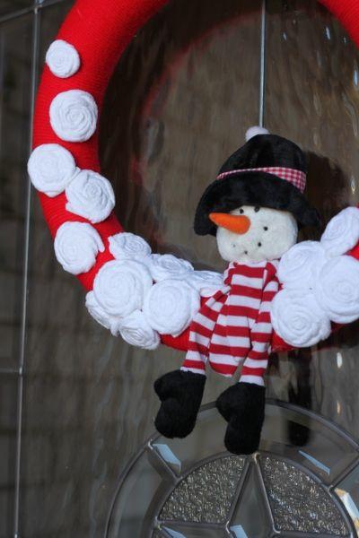 Snowman Wreath   Snowman wreath, Wreath forms and Snowman