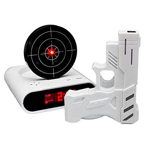 lcd digital wecker mit zielscheibe und infrarot pistole g. Black Bedroom Furniture Sets. Home Design Ideas