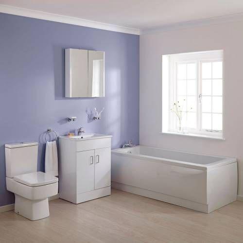 Hudson Reed Ensemble baignoire 170x70x38cm meuble-lavabo  toilette