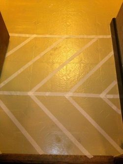 Painting linoleum vinyl floors recycle upcycle for Liquid lino floor paint
