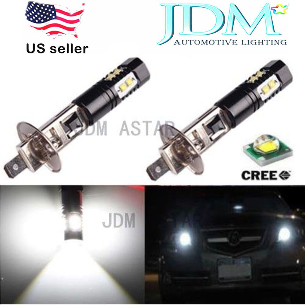 Jdm Astar Extremely Bright H1 Cree Led Xenon White Bulbs For Drl Or Fog Lights Jdmastar