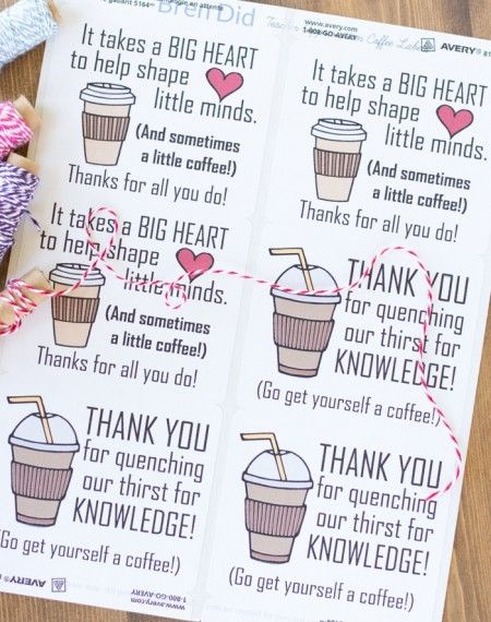 Free printables teacher gift diy free printable gift tags and free printables negle Images