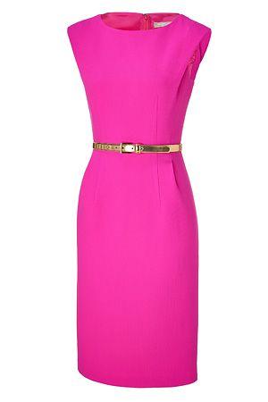 michael kors neon pink dress--EEEEE!! This color is amazing!