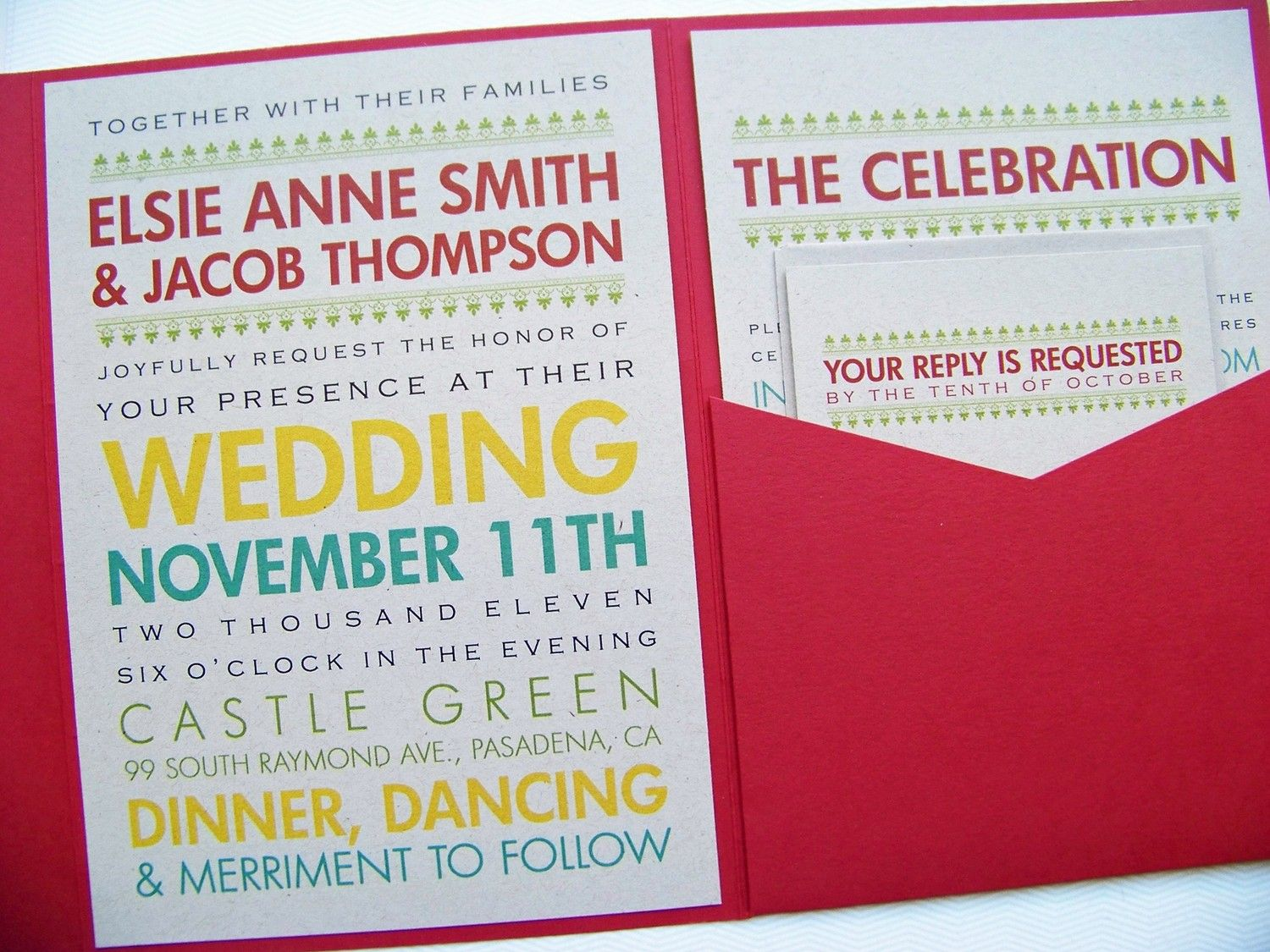 wedding invitations Love the colors on this