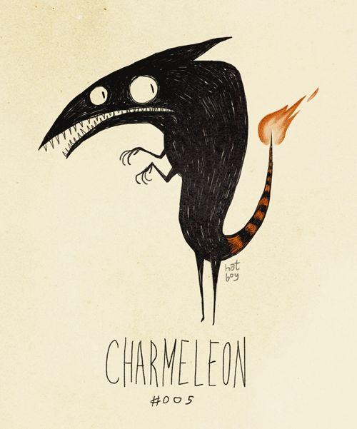 Charmeleon [Tim Burton Style] by Vaughn Pinpin